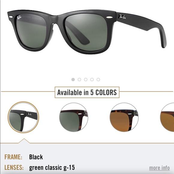 2a7f34066b Black Rayban Wayfarer Sunglasses